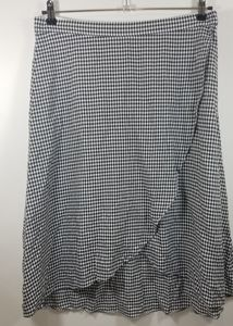 LOFT A-Line Gingham paid skirt size 12 NWT